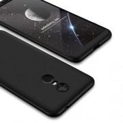 GKK 360 μοιρών Σκληρή Θήκη Ματ με Βελούδινη Υφή Πρόσοψης και Πλάτης για Xiaomi Redmi 5 Plus - Μαύρο