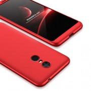 GKK 360 μοιρών Σκληρή Θήκη Ματ με Βελούδινη Υφή Πρόσοψης και Πλάτης για Xiaomi Redmi 5 Plus - Κόκκινο