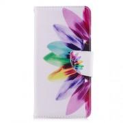 Δερμάτινη Θήκη Πορτοφόλι με Βάση Στήριξης για Xiaomi Redmi 5 - Λουλούδι με Πολύχρωμα Φύλλα