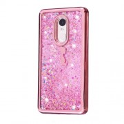 Floating Glitter Powder Quicksand Electroplated TPU Jelly Cover for Xiaomi Redmi Note 4X - Lady in Butterfly Dress