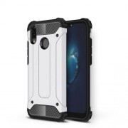 Armor Guard Plastic + TPU Hybrid Shell Case for Huawei P20 Lite / Nova 3e (China) - White