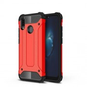 Armor Guard Plastic + TPU Hybrid Phone Case for Huawei P20 Lite / Nova 3e (China) - Red