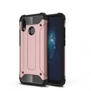 Armor Guard Plastic + TPU Hybrid Cell Phone Case for Huawei P20 Lite / Nova 3e (China) - Rose Gold