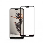 MOCOLO Silk Print Arc Edge Full Size Tempered Glass Screen Protector for Huawei P20 - Black