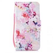 Δερμάτινη Θήκη Πορτοφόλι με Βάση Στήριξης για Huawei P Smart / Enjoy 7S - Πολύχρωμα Λουλούδια