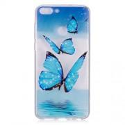 Θήκη Σιλικόνης TPU για Huawei P Smart / Enjoy 7S - Μπλε Πεταλούδες