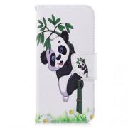 Δερμάτινη Θήκη Πορτοφόλι με Βάση Στήριξης για Huawei P Smart / Enjoy 7S - Πάντα σε Μπαμπού