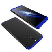 GKK 360 μοιρών Σκληρή Θήκη Ματ με Βελούδινη Υφή Πρόσοψης και Πλάτης για Huawei Mate 10 Lite / Maimang 6 / nova 2i - Μαύρο/Μπλε