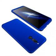 GKK 360 μοιρών Σκληρή Θήκη Ματ με Βελούδινη Υφή Πρόσοψης και Πλάτης για Huawei Mate 10 Lite / Maimang 6 / nova 2i - Μπλε