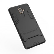 Cool Guard PC TPU Combo Mobile Casing with Kickstand for Nokia 7 plus - Black