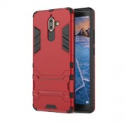 Cool Guard PC TPU Combo Mobile Case with Kickstand for Nokia 7 plus - Red