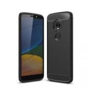 Θήκη Σιλικόνης TPU Carbon Fiber Brushed για Motorola Moto E5 Plus - Μαύρο