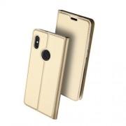 DUX DUCIS Δερμάτινη Θήκη Πορτοφόλι με Βάση Στήριξης για Xiaomi Redmi Note 5 / Note 5 Pro - Χρυσαφί