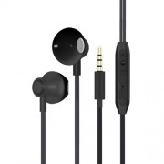 3.5mm Plug In-ear Mega Bass Metal Earphone with Remote Control for Samsung Note 8/S8/S8 Plus - Black