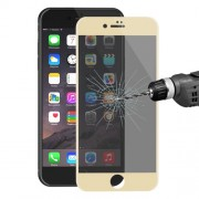 HAT PRINCE for iPhone 7 Anti-spy Carbon Fiber Soft Edge Full Coverage Tempered Glass Screen Protector 0.26mm - Gold