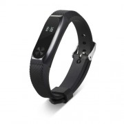Metal Frame Silicone Strap Replacement for Xiaomi Mi Band 2 - Black
