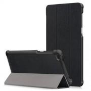 Δερμάτινη Θήκη Βιβλίο Tri-Fold με Βάση Στήριξης για Lenovo Tab 7 Essential / Tab4 7 Essential (TB-7304F) - Μαύρο