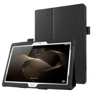 Δερμάτινη Θήκη Βιβλίο με Βάση Στήριξης για Huawei MediaPad M2 10.0 - Μαύρο