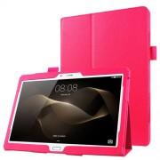 Δερμάτινη Θήκη Βιβλίο με Βάση Στήριξης για Huawei MediaPad M2 10.0 - Φούξια