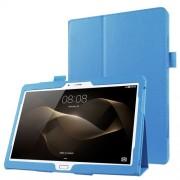 Δερμάτινη Θήκη Βιβλίο με Βάση Στήριξης για Huawei MediaPad M2 10.0 - Γαλάζιο