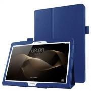 Δερμάτινη Θήκη Βιβλίο με Βάση Στήριξης για Huawei MediaPad M2 10.0 - Σκούρο Μπλε