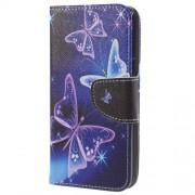 Δερμάτινη Θήκη Πορτοφόλι με Βάση Στήριξης για Samsung Galaxy S9 - Φανταχτερές Πεταλούδες
