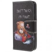 Δερμάτινη Θήκη Πορτοφόλι με Βάση Στήριξης για Samsung Galaxy S9 - Χαριτωμένο Αρκουδάκι