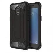 Armor Guard Plastic + TPU Hybrid Cell Phone Cover for Samsung Galaxy J2 Pro 2018 - Black
