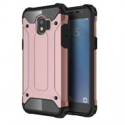 Armor Guard Plastic + TPU Hybrid Mobile Phone Case for Samsung Galaxy J2 Pro 2018 - Rose Gold