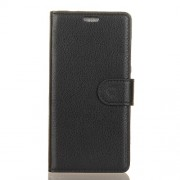 Δερμάτινη Θήκη Πορτοφόλι με Βάση Στήριξης για Samsung Galaxy J2 Pro 2018 - Μαύρο