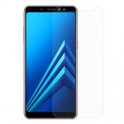 For Samsung Galaxy A8+ (2018) 0.3mm Tempered Glass Screen Protector Guard Film (Arc Edge)