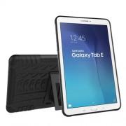 Υβριδική Θήκη Συνδυασμού Σιλικόνης TPU και Πλαστικού με Βάση Στήριξης για Samsung Galaxy Tab E 9.6 T560 - Μαύρο