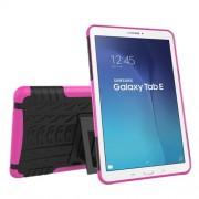 Υβριδική Θήκη Συνδυασμού Σιλικόνης TPU και Πλαστικού με Βάση Στήριξης για Samsung Galaxy Tab E 9.6 T560 - Φούξια