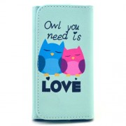 Patterned Leather Wallet Pouch for Samsung Galaxy S6 edge+ / Note5, Size: 155 x 80 x 15mm - Owl You Need Is Love
