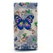 Wallet Leather Cover for Samsung Galaxy S6 edge+ / Note5, Size: 155 x 80 x 15mm - Floral Butterflies Pattern