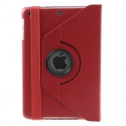 360 Rotary Stand for iPad Mini / iPad Mini 2 Smart Lychee Leather Cover - Red