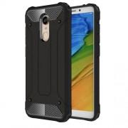 Tough Armor Υβριδική Θήκη Σιλικόνης TPU σε Συνδυαμό με Πλαστικό για Xiaomi Redmi 5 Plus - Μαύρο