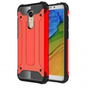 Armor Guard Plastic + TPU Hybrid Protective Casing for Xiaomi Redmi Note 5 / Redmi 5 Plus - Red