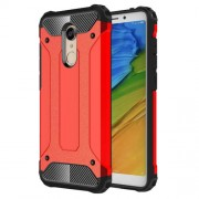 Armor Guard Plastic + TPU Hybrid Protection Cover for Xiaomi Redmi 5 - Red
