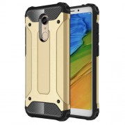 Armor Guard Plastic + TPU Hybrid Protective Cover Shell for Xiaomi Redmi 5 - Gold