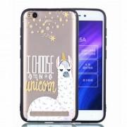 Rubberized Embossment Pattern TPU Soft Case for Xiaomi Redmi 5A - A Unicorn
