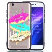 Rubberized Embossment Pattern TPU Featherweight Casing for Xiaomi Redmi 5A - Donuts