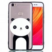 Rubberized Embossed PC TPU Phone Case for Xiaomi Redmi Note 5A Prime / Redmi Y1 (India) - Panda