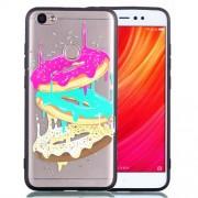 Rubberized Embossed PC TPU Phone Cover for Xiaomi Redmi Note 5A Prime / Redmi Y1 (India) - Doughnut