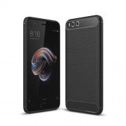 Carbon Fiber Texture Brushed TPU Back Case for Xiaomi Mi Note 3 - Black