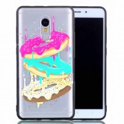Rubberized Embossed PC TPU Hybrid Phone Cover for Xiaomi Redmi Note 4X - Doughnuts