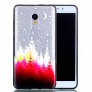 Rubberized Embossed PC TPU Hybrid Phone Casing for Xiaomi Redmi Note 4X - Moon and Tree