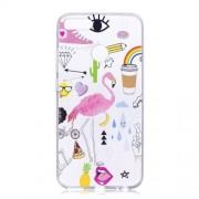 For Xiaomi Mi A1 / 5X Pattern Printing Soft TPU Phone Accessory Case - Crane Pattern