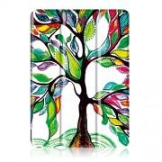 Δερματινη Θήκη Βιβλίο Tri-Fold με Βάση Στήριξης για Lenovo Tab 4 10 (TB-X304F/N) - Δένδρο με Πολύχρωμα Φύλλα