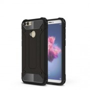 Armor Guard Plastic + TPU Hybrid Shell for Huawei P Smart / Enjoy 7S - Black